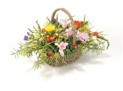 Basket Mixed Freesias