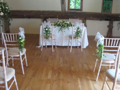 Table and chair decoration