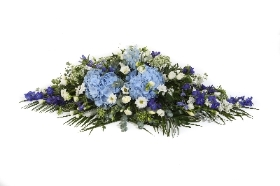 DE12 Hydrangea and Delphinium Double Ended Spray