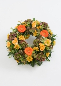 WR8 Loose Autumnal Wreath