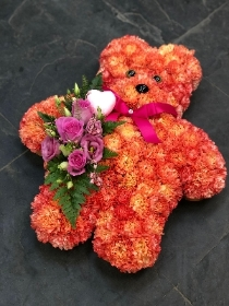 Orange Carnation Teddy