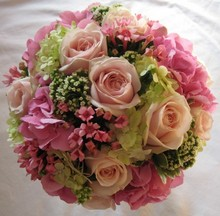 Handtied design pastel pinks and greens