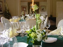 Modern table whites and greens