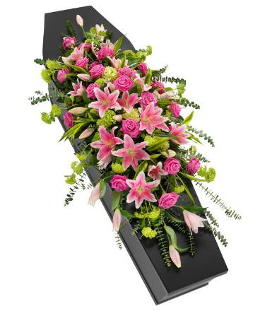 DE15 Lily and Rose Double Ended Coffin Spray