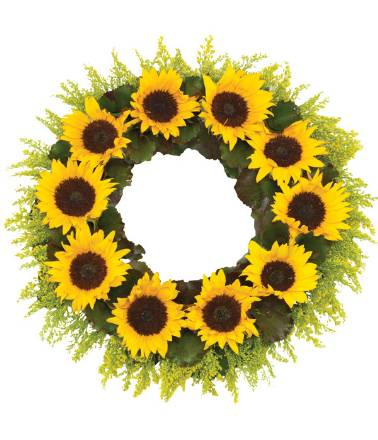 WR14 Sunflower Wreath
