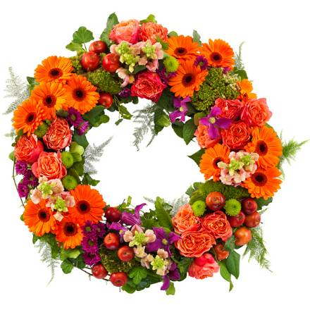 WR9  Orange Loose Wreath