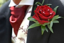 Gents rose buttonhole