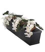 Double Ended White Orchid Casket