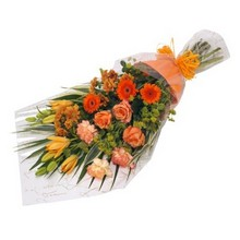 Orange shaded bouquet