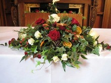 Festive Top table arrangement
