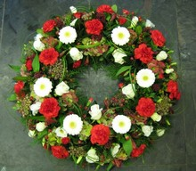 Red, White and Berried Wreath
