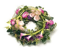 WR4 Rose and Calla Lily Wreath